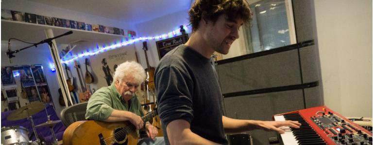 Tom Rush in session with Matt Nakoa