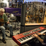 Tom Rush in session with Matt Nakoa | © Neil Eckstein, All rights reserved.
