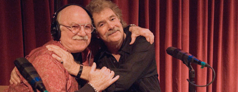 Image of Gene Shay WXPN Folk Show features archival Tom Rush interviews. 2005 - Gene Shay and Tom Rush, Philadelphia, 23.10.2005. Photo: Robert Corwin